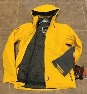 Gore-Tex SCOTT SnowMobile Ski Board Jacket, Chrome Yellow BRAND NEW w/tags LG