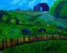 Old Farm Modern Natasha Petrosova Original Painting Impressionism 16