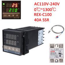 REX-C100 Digital Alarm PID Temperature Controller Machine 0℃~1300℃ AC110-240V LJ