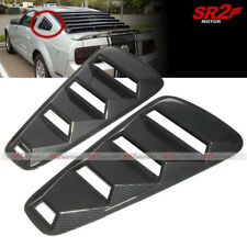 ABS Carbon 1/4 Side Vent Window Louver Cover Pair Trim fits 05-14 Ford Mustang