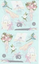 Mrs. Grossman's Giant Stickers - Wedding Accessories - Bouquet, Rings - 2 Strips