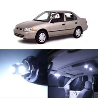 9 x White LED Interior Lights Package For 1998 - 2000 Toyota Corolla + PRY TOOL