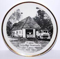 Teller 75 Jahre FFw Feuerwehr Gatow 1909-1984, I/II