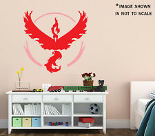 Team Valor Logo Pokemon Go Plus Red Vinyl Wall Decal
