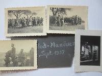 D.Reich, FLAK Manöver 1937, 4 original Fotos (19247)