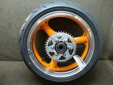 03 2003 KAWASAKI ZR1000 A1 ZR 1000 WHEEL, REAR RIM & TIRE #GG6