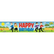 The Wiggles Party Supplies Plastic Happy Birthday Banner Decorations