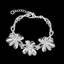 Flower Bracelet For Women H470 Fashion 925Sterling Solid Silver Jewelry
