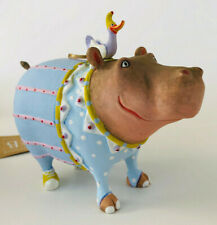 Krinkles Hugo the Hippo Ornament * Patience Brewster Jambo * full size * Nwob