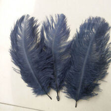 """FEATHERS OSTRICH X 5 pcs NAVY BLUE  Millinery and Crafts 6""""- 8"""" 20 x 15cm"""
