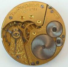 Elgin Grade 212 Complete Running Pocket Watch Movement - Parts / Repair