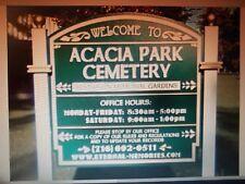 2 Cemetery Plots ACACIA PARK Resthaven Memorial Gardens N. TONAWANDA NY