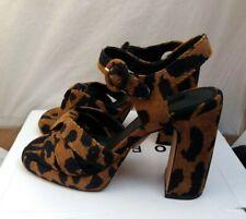 Topshop RIPPLE True Leopard Print Platform Shoes - UK 4/EU 37