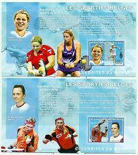 TENNIS, PING PONG & CYCLING - CONGO 2006 blocks imerforated
