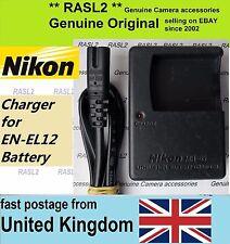 Genuino, originale nikon mh-65 caricabatteria EN-EL12 COOLPIX S9100 S710 S6150 P300 S70