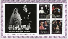Tokelau 2017 FDC Queen Elizabeth II Platinum Wedding 4v Cover Royalty Stamps