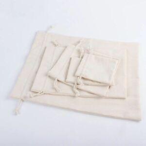 1 Pc Natural Reusable Jute Linen Drawstring Pouch Packaging Gift Bag Printed Jew