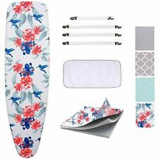 Ironing Board Cover and Pad Scorch Resistance Protective Mesh Cloth Flower New