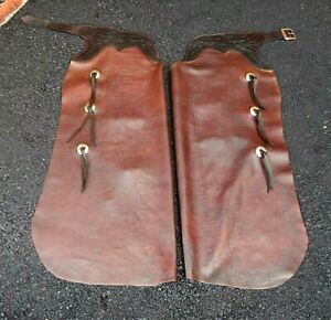 Vintage Lightly Used  Handmade / Hand Tooled Bat Wing Chaps