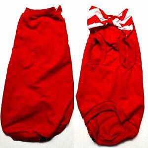 Red Bow Cotton Knit - Sphynx Cat Top, Devon Rex, Peterbald, Pet Cat Clothes