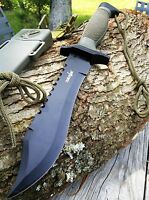 """12"""" TACTICAL BOWIE SURVIVAL HUNTING KNIFE w/ SHEATH MILITARY Combat Fixed Blade"""