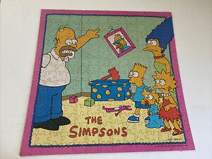 Vintage 1990 Milton Bradley THE SIMPSONS 250 pc Jigsaw Puzzle! Complete