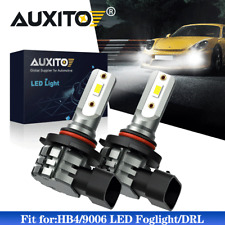 2X AUXITO HB4 9006 LED Fog Light Bulbs DRL 6000K Super Bright Bulbs White Lamps