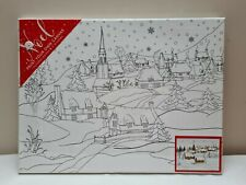 New Sealed Noel Paint Your Own Canvas 40 X 30cm Includes Paints & Brushes