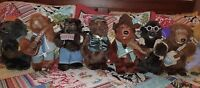 15 INCH DISNEY STORE COUNTRY BEARS MOVIE JAMBOREE PLUSH STUFFED ANIMAL SET OF 8