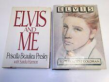 Lot of 2 Elivs Presly Books - Elvis And Me - Priscilla & Elvis By Albert Goldman