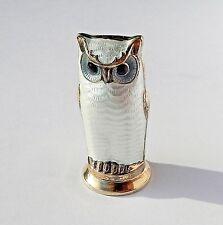 David Andersen D-A Norway 925S Sterling Guilloche Enamel Owl Salt Pepper Cruet