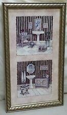 "Home Interior Homco Beautiful""Vintagr Bath"" Picture"