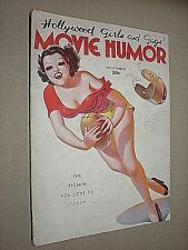MOVIE HUMOR. NOV 1937. GEORGE QUINTANA FRONT COVER ILLUSTRATION