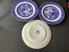 """3 x alfred meakin old willow plates 9"""""""