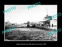 OLD LARGE HISTORIC PHOTO OF JEPARIT VICTORIA, THE MAIN STREET & STORES c1890