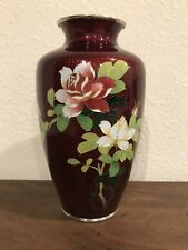 New ListingGorgeous Inaba Japanese Silver Mounted Cloisonne vase 7-1/8 inches