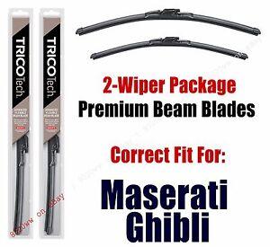 Wipers 2-Pack Premium Beam Wiper Blades fits 2014+ Maserati Ghibli 19260/180