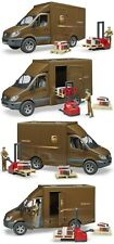 Bruder Mercedes Benz Sprinter UPS Truck w Manually Operated Pallet Jack & Driver