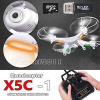 X5C-1 2.4GHz 4CH 6 Axis RC Quadcopter Drone RTF W/ HD Camera RC Dron Explorers