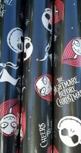 Nightmare Before Christmas Wrapping Paper  Disney Gift Wrap 70 Sq Feet