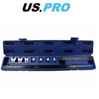 US PRO 9 Piece Serpentine Belt Tool Set In Storage Case 3216
