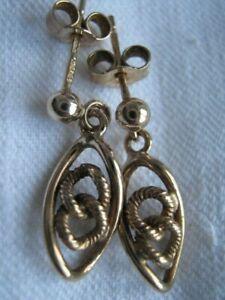 1994 FULLY HALLMARKED BIRMINGHAM  9CARAT GOLD LINK DESIGN EARRINGS FOR PIERCED