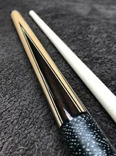 Panther Playing Cue Ebony & Maple Fancy Ringwork WoW Under $ 100.00