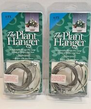 "2 Pack Pot Basket ""The Plant Hanger"" Stainless Steel Cable 4FT NEW"
