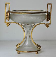 COUPE DRAGEOIR CRISTAL ET BRONZE DORÉ NEOCLASSICAL CRYSTAL AND ORMOLU CUP