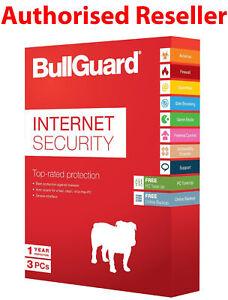 BullGuard Internet Security 2021 (3 User/1 Year) PC / MAC Antivirus Windows
