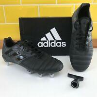 Adidas Kakari Elite SG Rugby Boots Black Mens UK Size 7 & 8 ODD BOOTS - New