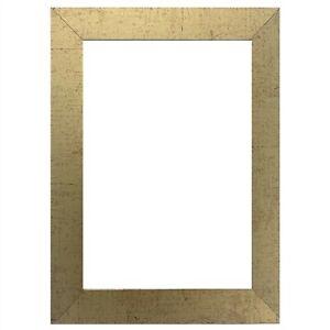 "US ART Frames 1.25"" Flat Antique Gold MDF Wall Decor Picture Poster Frames"