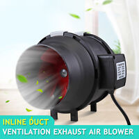 """6"""" Inch Inline Ventilation Duct Fan for Exhaust and Intake through Air Ducts"""
