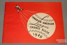 Orig 1949 Canadian American Baseball League Media Guide